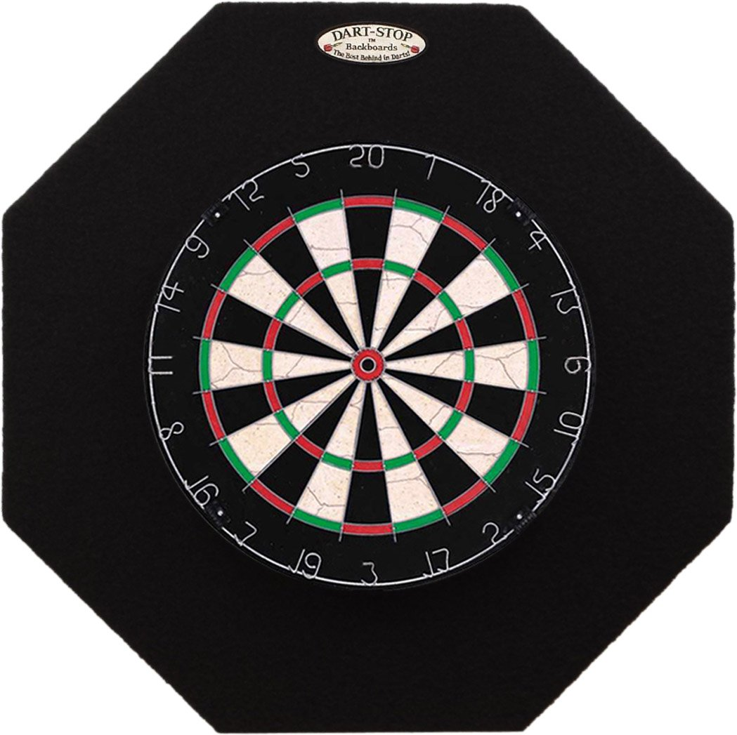 29'' Professional Dartboard Backboard, Octagonal (Black)