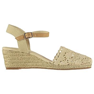 ebd41211e Soul Cal Womens Crochet Wedge Sandals  Amazon.co.uk  Shoes   Bags