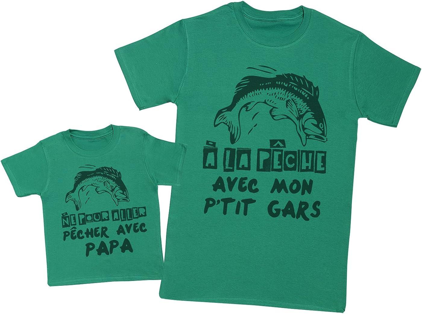 Hommes T-Shirt /& T-Shirt b/éb/é Zarlivia Clothing Mon Papa a Le Gar/çon Le Plus g/énial au Monde! Ensemble P/ère B/éb/é Cadeau