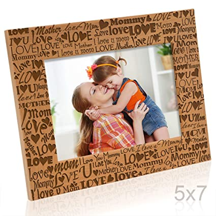 Kate Posh I Love You Mom, Mother, Mommy Picture Frame, Mommy & Me Gifts,  New Mom, New Baby, Mother's Day (5x7-Horizontal)