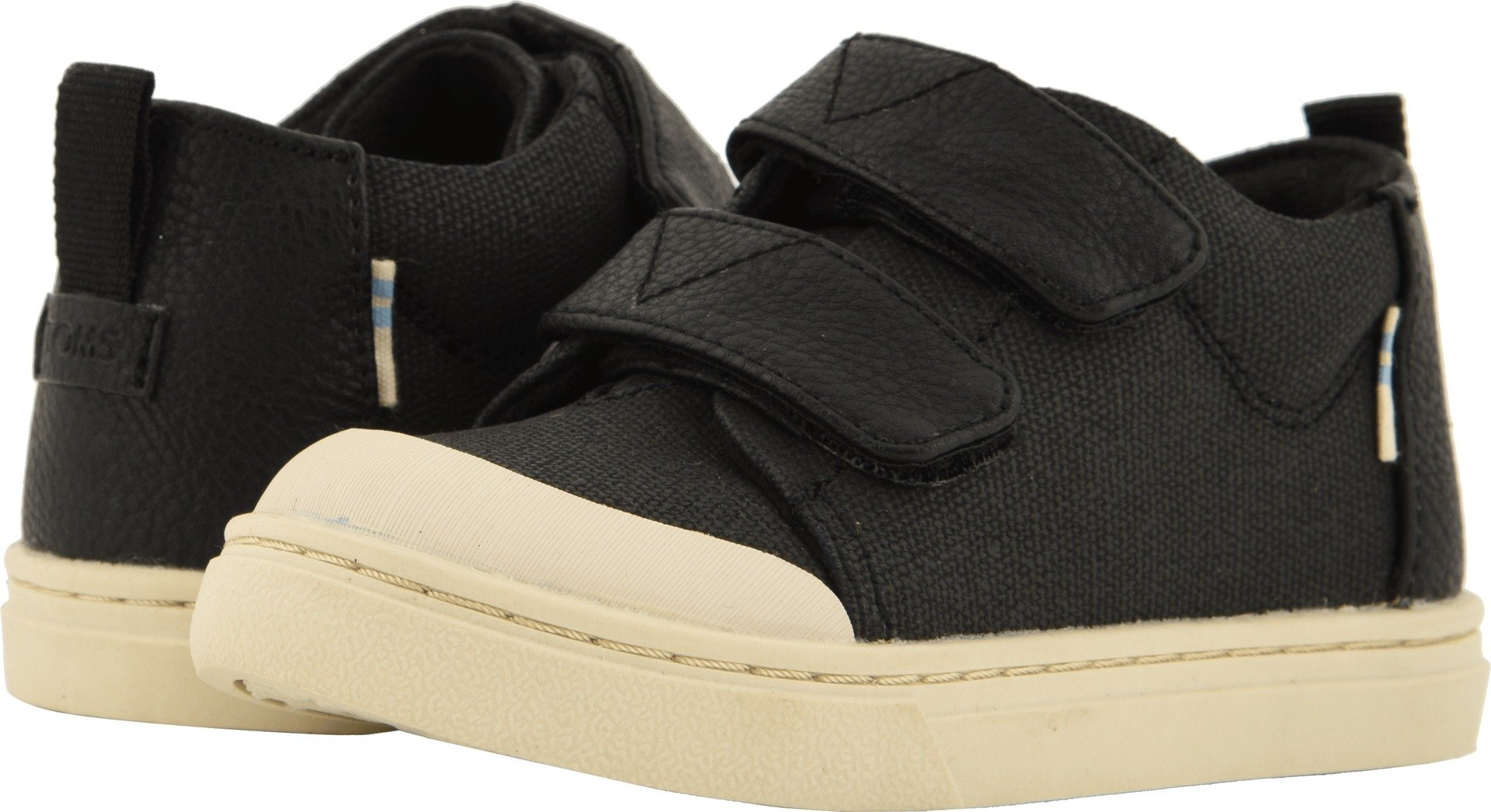 TOMS Tiny Lenny Mid Cotton Sneaker, Size: 4 M US Toddler, Color: Black Textural