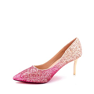 60d36e6e1 Dech Barrouci Women's Multicolour Synthetic High Heels Bellies -4 ...