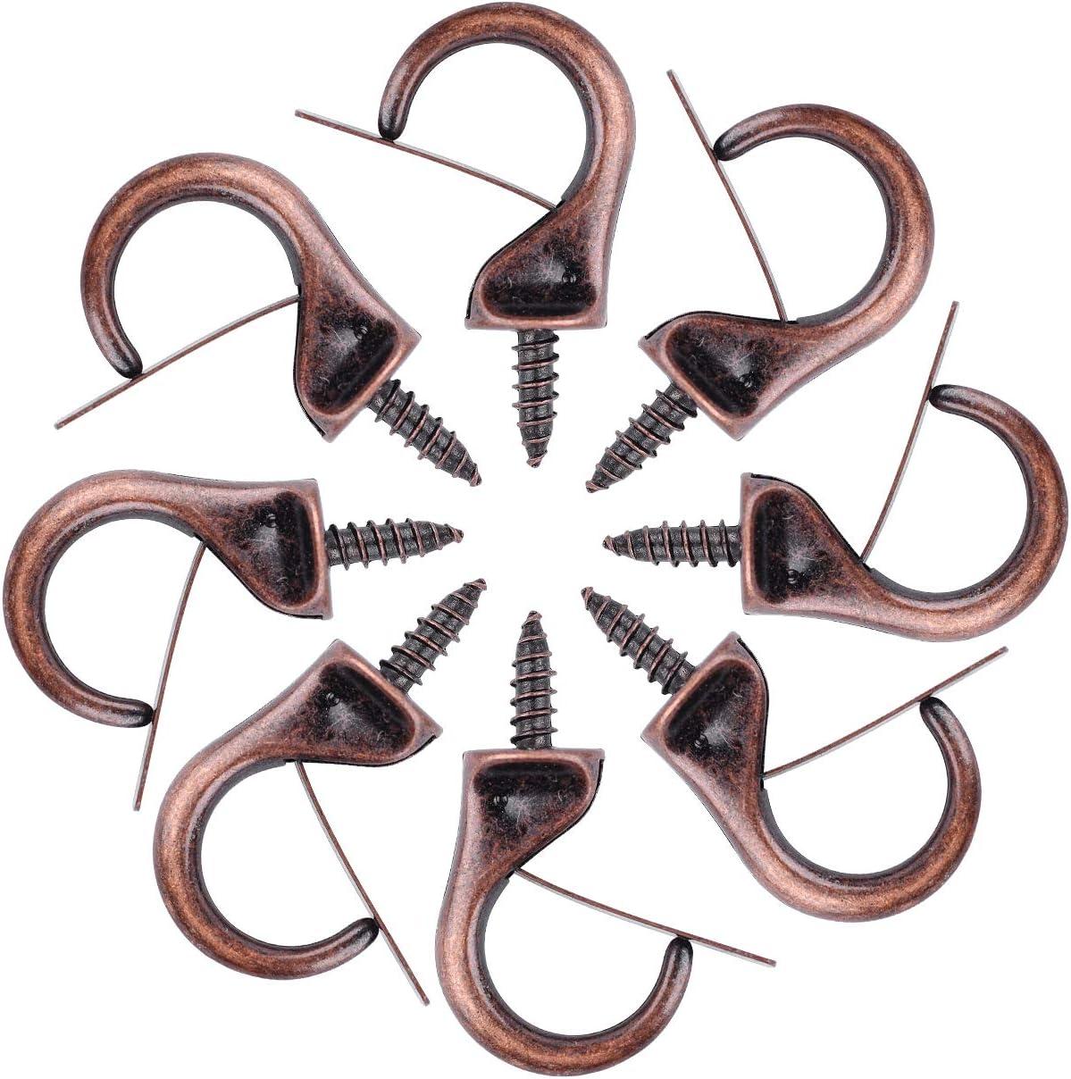 braun Umsole Metallhaken Winddicht H/ängende Deckenhaken Tropfen Schraubhaken