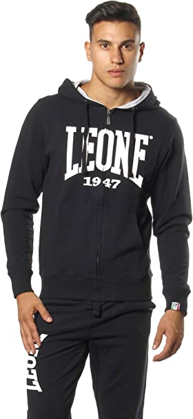 Felpa con Cappuccio Uomo LEONE 1947 APPAREL Sport Fight Activewear