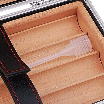 WFF Zigarren Humidore Pretty Gadget Tragbare Aluminium-Reisen Cedar Holz ausgekleidet Verpackung Zigarre Rohr Etui Mini Humidor es frisch halten