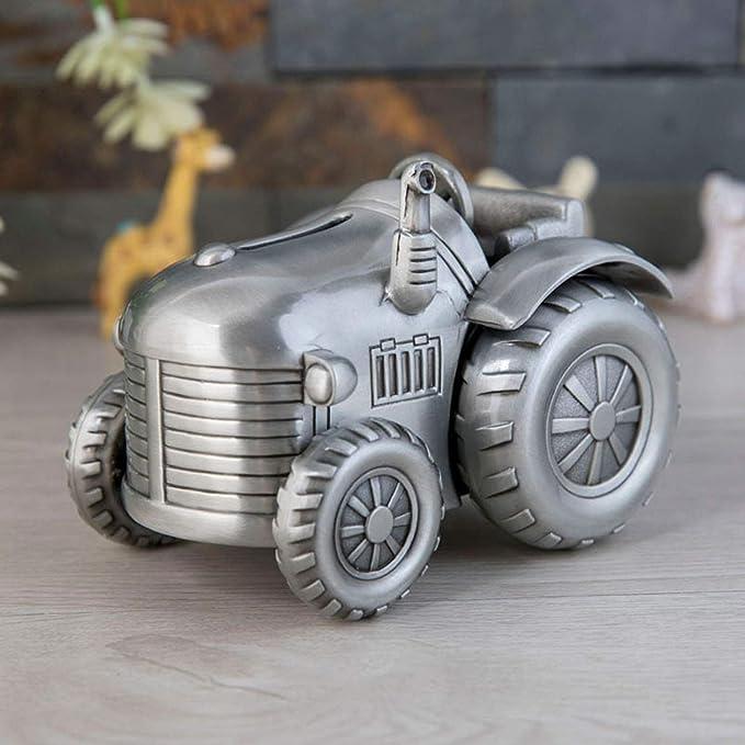 YXXHM- Metal Creativo Tractor de Cuatro Ruedas pequeño Piggy Bank, Moneda de Cambio de sembradora, Decoración de Muebles para niños, 12X8.9X9.1C: Amazon.es: ...