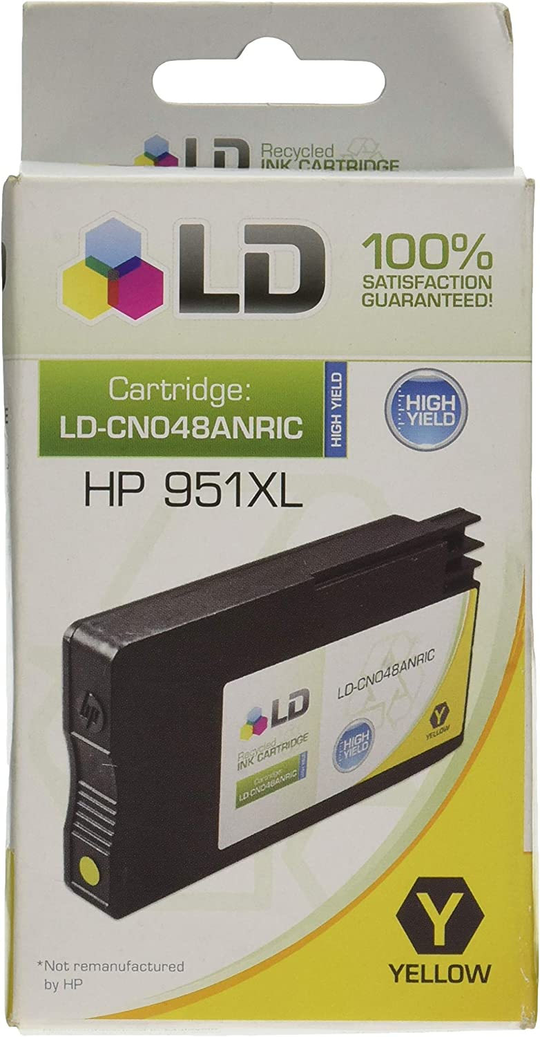 LD Remanufactured Ink Cartridge Replacement for HP 951XL CN048AN High Yield (Yellow)