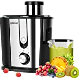 Juicer Machines, HERRCHEF 600W Juice Extractor with 3'' Wide Mouth, 2 Speed Stainless Steel Compact Centrifugal Juicer for Ve