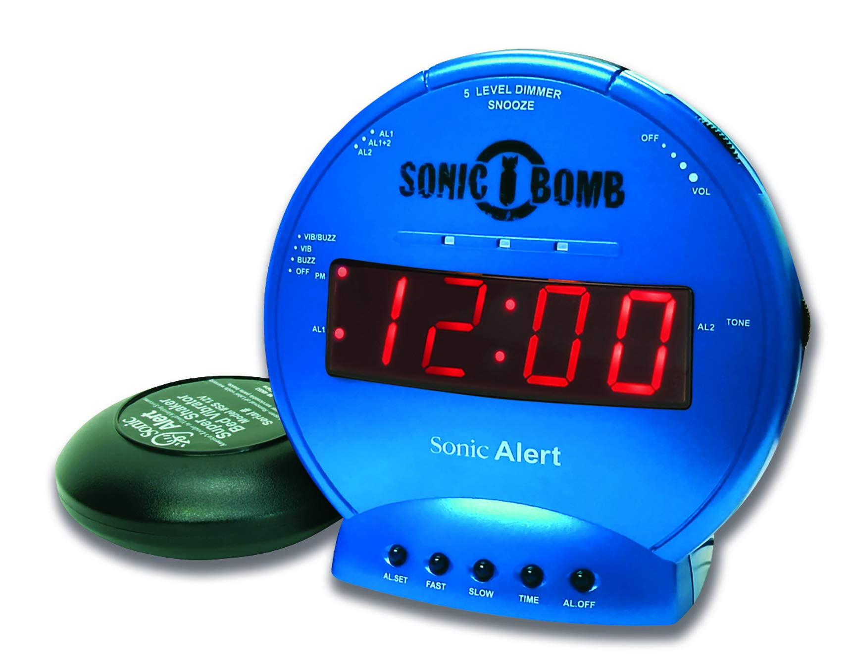 Sonic Bomb Loud Dual Alarm Clock with Vibrating Bed Shaker Turquoise - SBB500SST