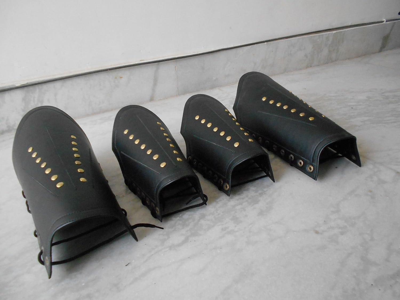 SCA Larp Archery Bracers Leather Arm And Leg Guards Medieval Roman Greek Bracers