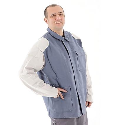 La chaqueta de soldadura Soldadura ropa con cuero equipo Flammentin recortar 100% algodón Tamaño elección