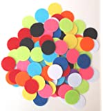 100 pc Mixed Color Assortment of 1 inch Sticky Back Felt Circles