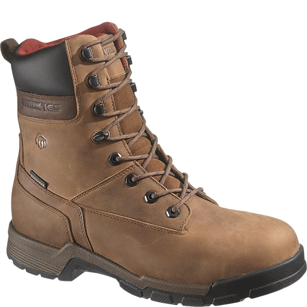 3d6a5ac04c4 Wolverine Men's Gear 8-Inch Composite Toe EH Waterproof Work Boot