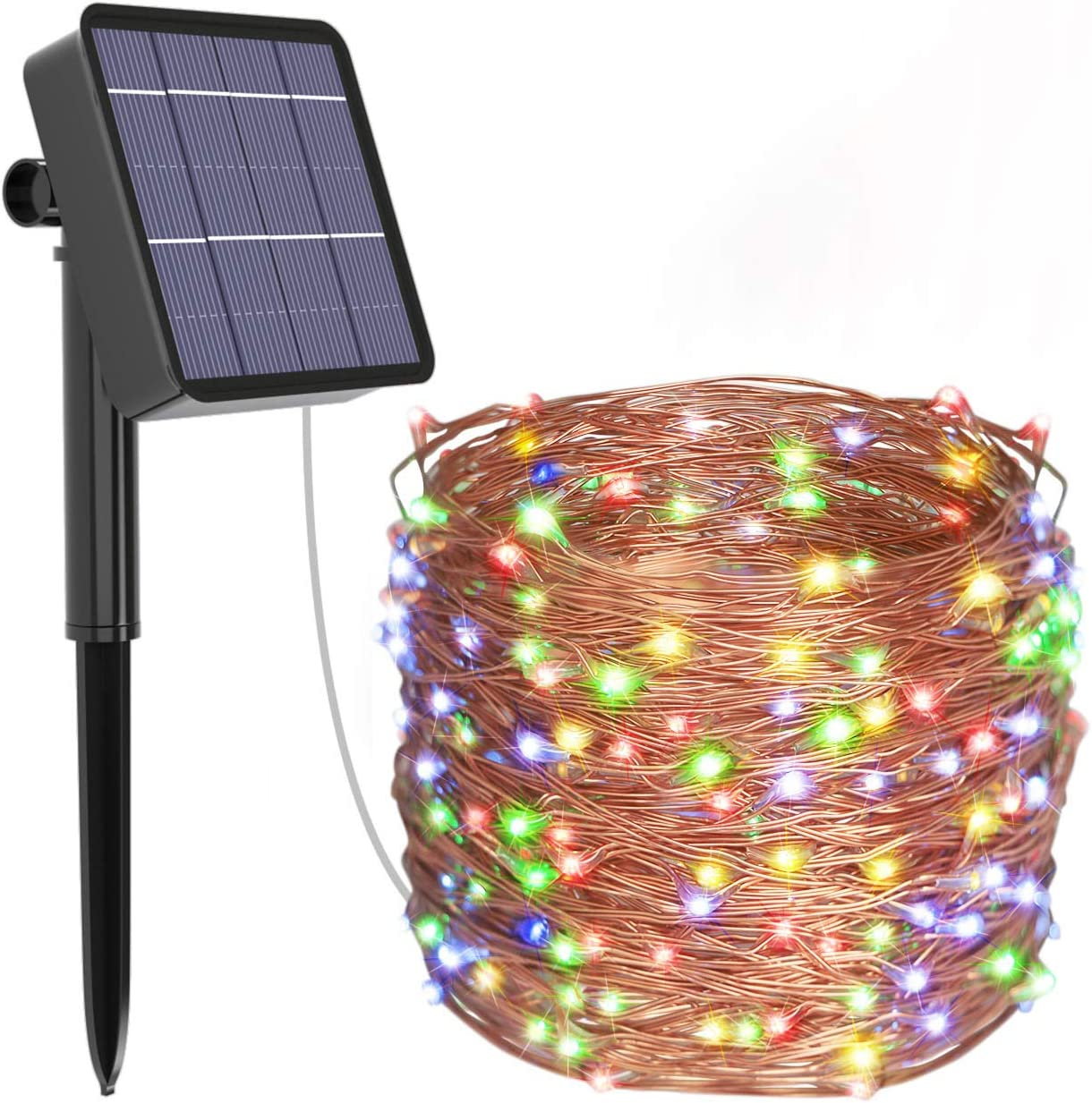 kolpop Solar String Lights, 78.7FT 240LED Solar Fairy Lights 8 Modes Copper Wire Solar Powered Fairy Lights Outdoor Waterproof for Christmas, Garden, Yard, Party, Camping, Patio, Tree (Multi-Color) …