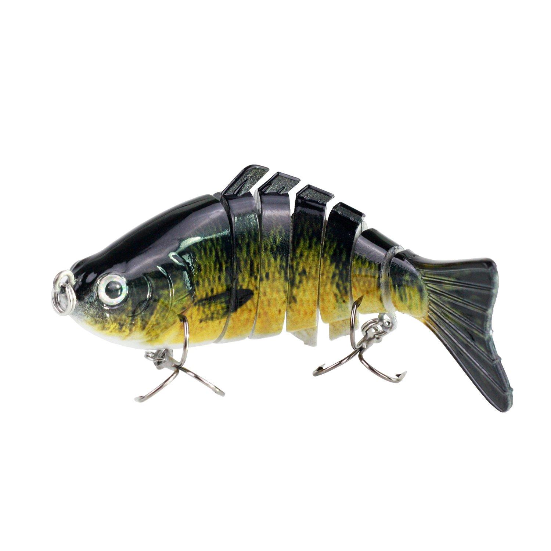 Modenpeak HJ-7S03 7 Segment Swimbait Lures Crankbaits Baits Hard Bait Fishing Lures 4'' 0.8oz by Modenpeak (Image #1)