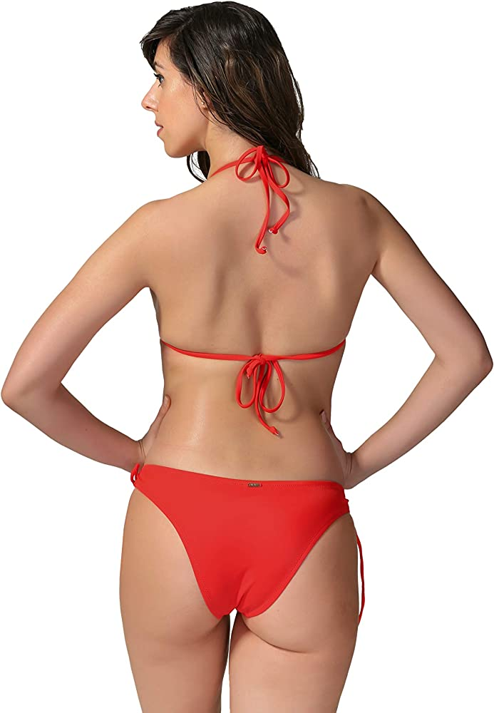 WOW Red Bikini Size 6 8 10 12 Red Tie Side Bikinis Ladies Swimwear