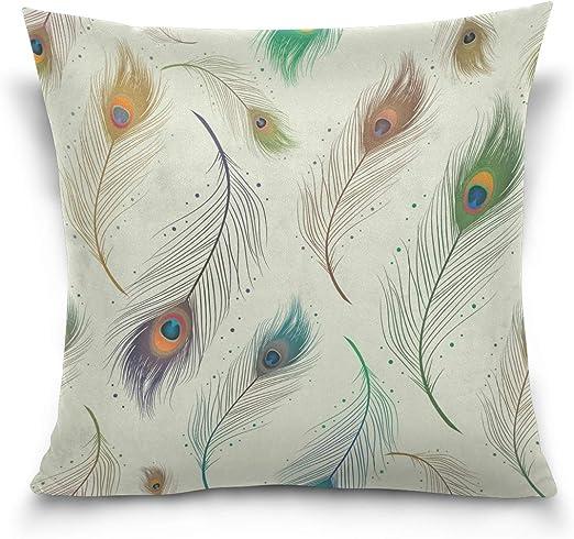 New Peacock Feather Pillowcase Cushion Cover Home Decor Throw Pillow Case Lounge
