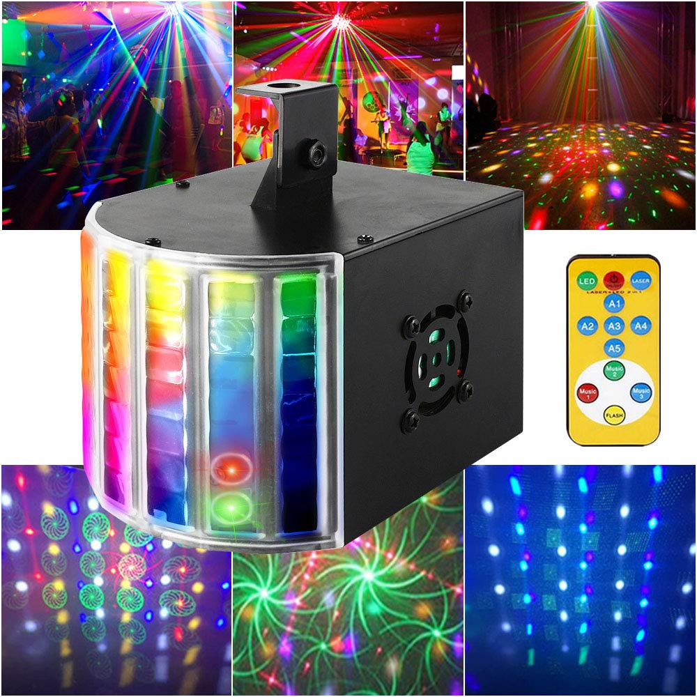 Party Lights Derby Lights Disco Ball Lights SUPERNAL Remote Control Sound Activated Auto Flash Mini Led Stage Projector Lights For Club Party Holiday Bar KTV Birthday Concert. by SUPERANL