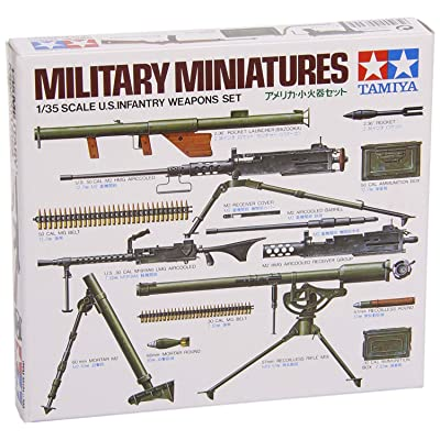 Tamiya Military Minatures U.s Infantry Weapons Set - 1:35 Scale Military: Toys & Games