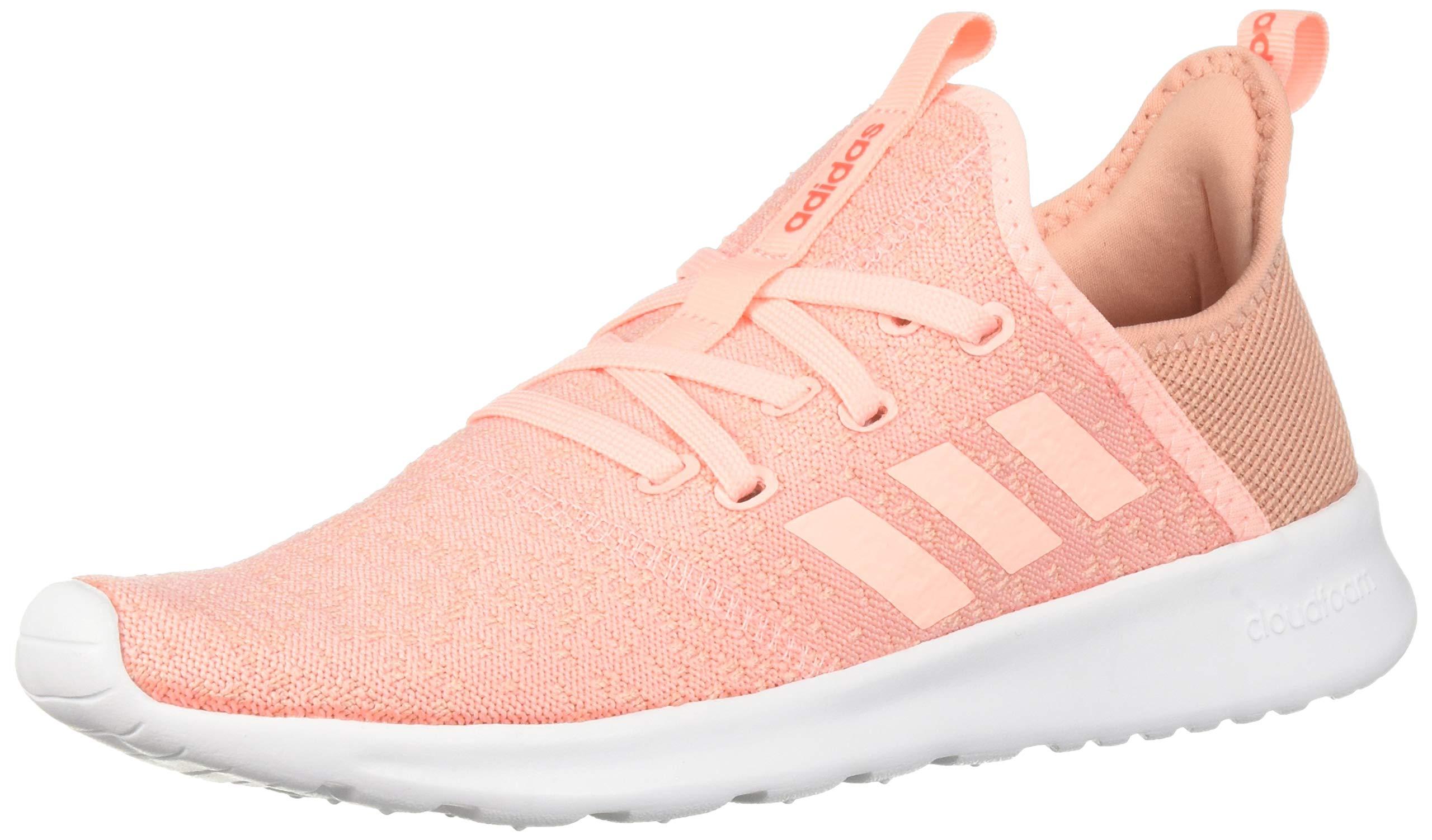 adidas Women's Cloudfoam Pure, Clear Orange/Solar red, 5 M US