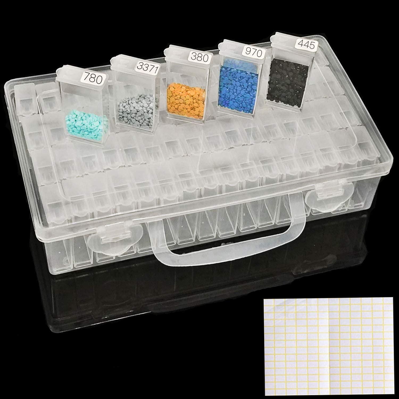 Stitch 5D  Diamond Painting Tools Rhinestones  Beads Container Storage Box