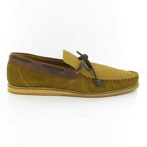 J Shoes - Mocasines de ante para hombre Beige marrón (Tan Suede)