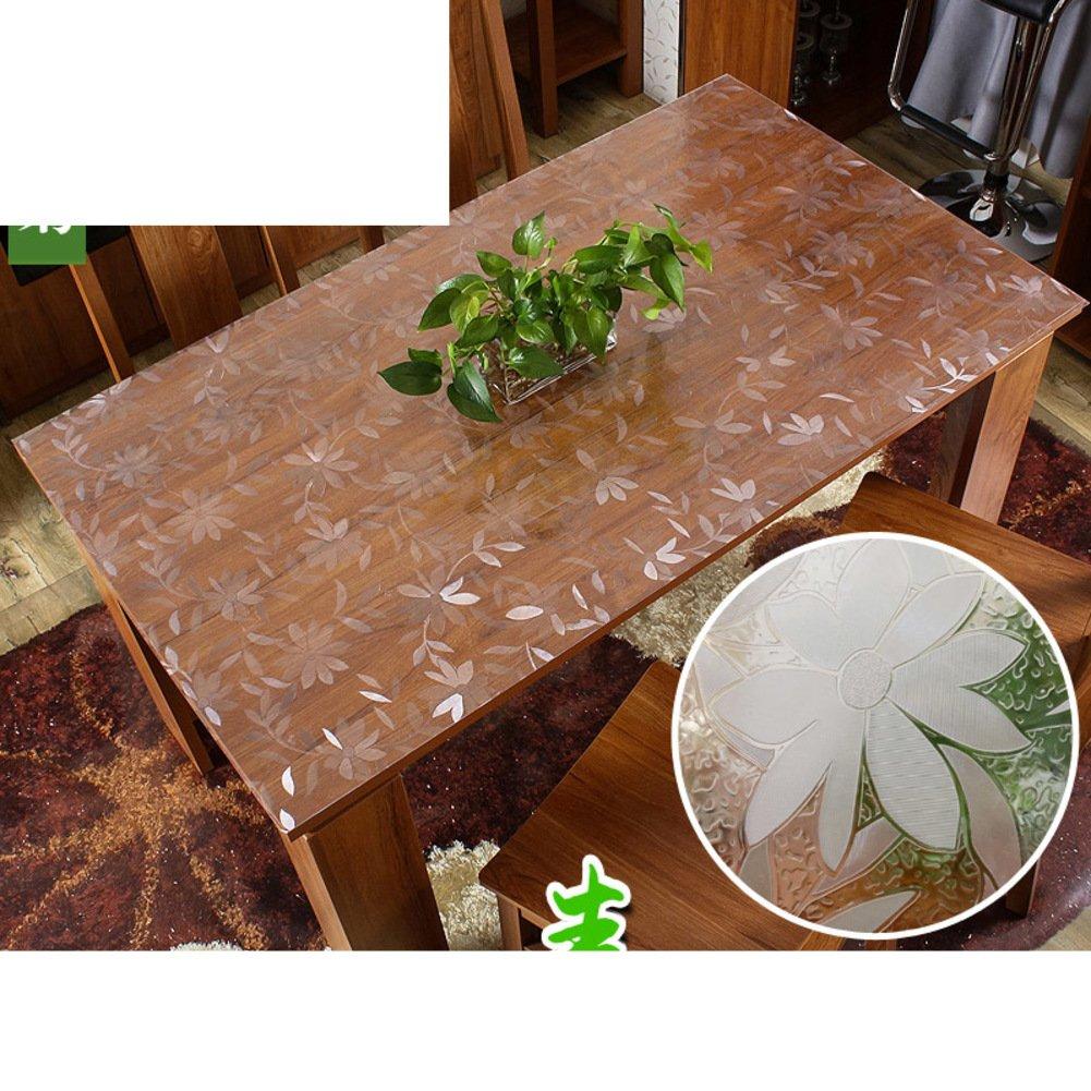 XKQWAN PVC Weiches Glas Wasserdicht Zu vermeiden EIN bügeleisen -Brett tischdecken Kunststoff Tischtuch Einweg Kristall-Teller Durchsichtige Anti-l-tischdecke-C 130x80cm(51x31inch) B07CKXQ99V Tischdecken Roman | Neue Sorten werden eingeführt