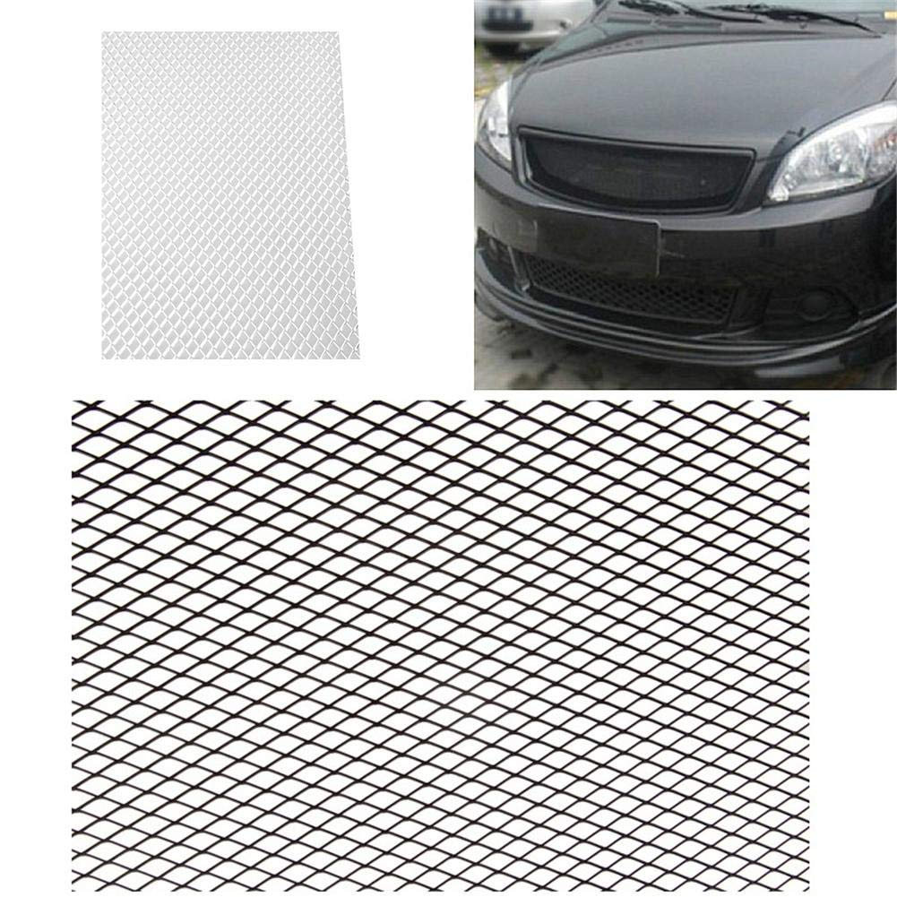 Black Rhombus Aluminium Car Vehicle Racing Front Bumper Grille Mesh Net 100×33cm