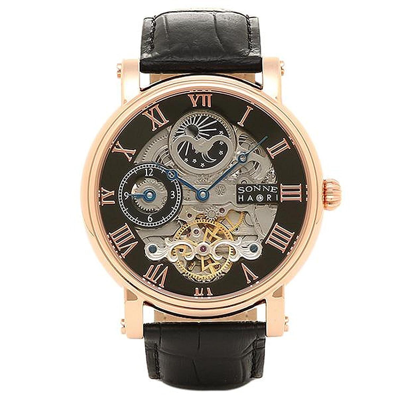 [ゾンネ] 腕時計 ウォッチ SONNE H013PG ブラック ゴールド B015U2GAYC