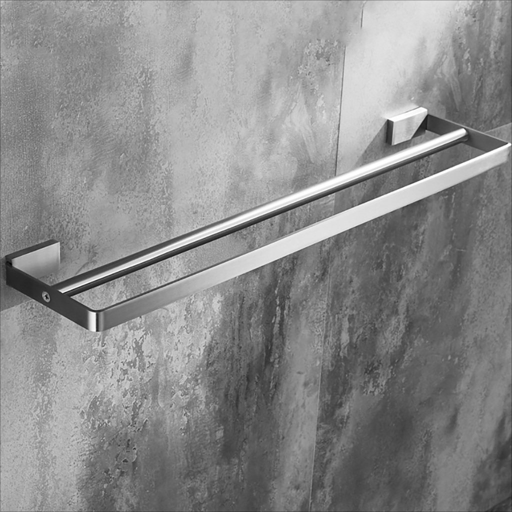 タオルバー 304ステンレス製タオルラック、バスルームタオルラック、ダブルタオルバー ( サイズ さいず : 50 cm 50 cm ) B07CJWKP6V 50 cm 50 cm 50 cm 50 cm