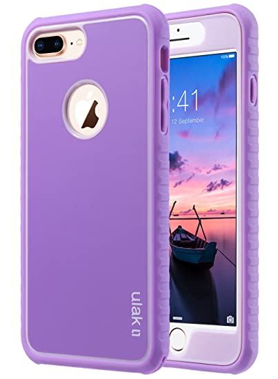 new arrival 76aee 8f0ae ULAK iPhone 8 Plus Case, Heavy Duty Shockproof Flexible TPU Bumper Durable  Anti-Slip Lightweight Front and Back Hard Protective Safe Grip Cover for ...