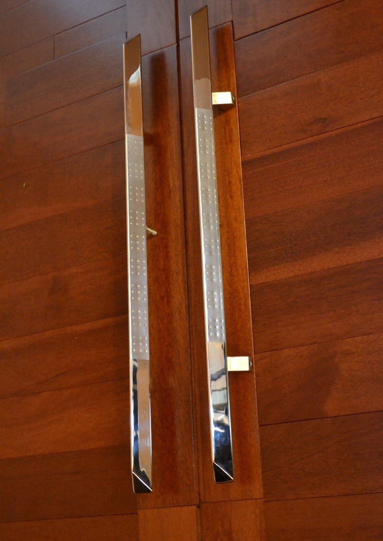 Madison MiniSun acero inoxidable Sus304 entrada delantera de madera de garaje granero puertas correderas empuje toreinforced: Amazon.es: Bricolaje y herramientas