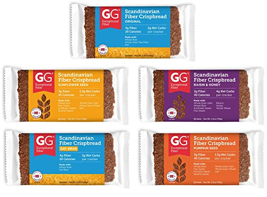 GG Scandinavian Crispbread Thins, Pack de 10 (2 de cada uno ...