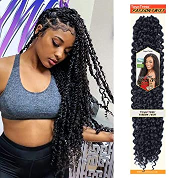 Passion Twist Hair 18 Inch 6 Packs Water Wave Crochet Braids For Passion Twist Crochet Hair Passion Twist Braiding Hair Hair Extensions