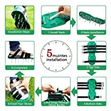 Garden Lawn Aerator Shoes With 4 Straps