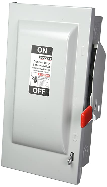 MURRAY GHN422N 60 Amp, 3 Pole, 240-Volt, 4 Wire, Fused, General Duty ...