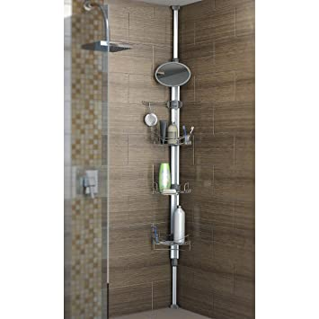 Artika Monsoon II Adjustable And Extendable Stainless Steel Baskets Corner  Shower/Bath Caddy With Fog