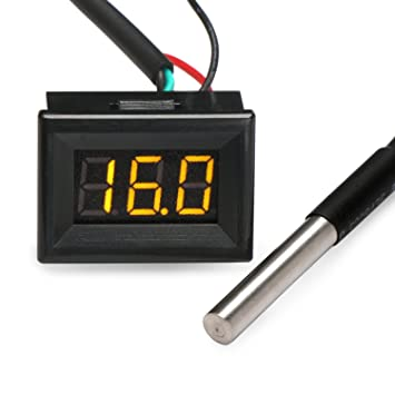 "0.36"" -55-125℃ Micro Portatil Digital Termómetro Medidor De Pannello Temperatura LED"