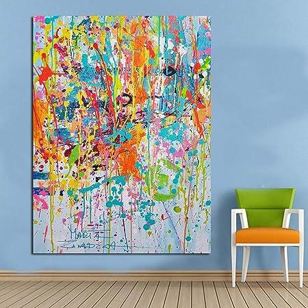 ZJMI Pintura Decorativa Pintura Mural Coloridas imágenes ...