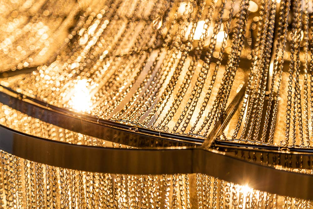 Extravaganter Kronleuchter GLAMOUR 140cm schwarz L/üster Deckenlampe Deckenleuchte