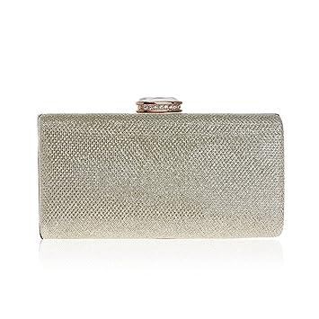 Bolso de Embrague de Cristal para Mujer,Bolsos de Embrague-Dorado 5x9x18cm(2x4x7inch): Amazon.es: Equipaje