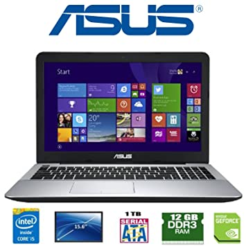 "ASUS F555L Intel i5-5200U 12 GB 1 TB Nvidia Geforce 820M 15.6"" ..."