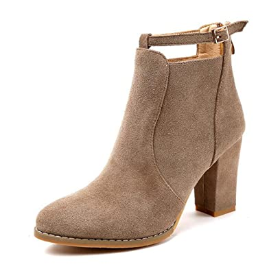 2414911a142 Amazon.com | Henraly Winter Women Ankle Boots Solid European High ...