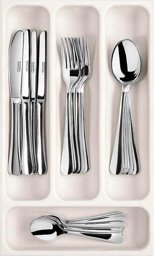 Blanco Tescoma Flexispace Bandeja para Cubiertos 22.2x4.91x41 cm