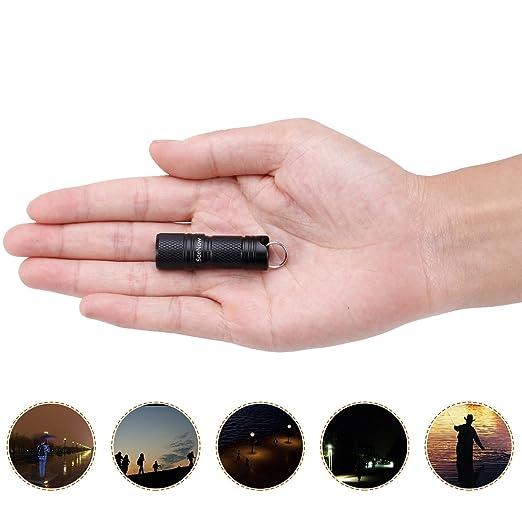Mini linterna llavero Micro USB recargable 200 lúmenes para ...