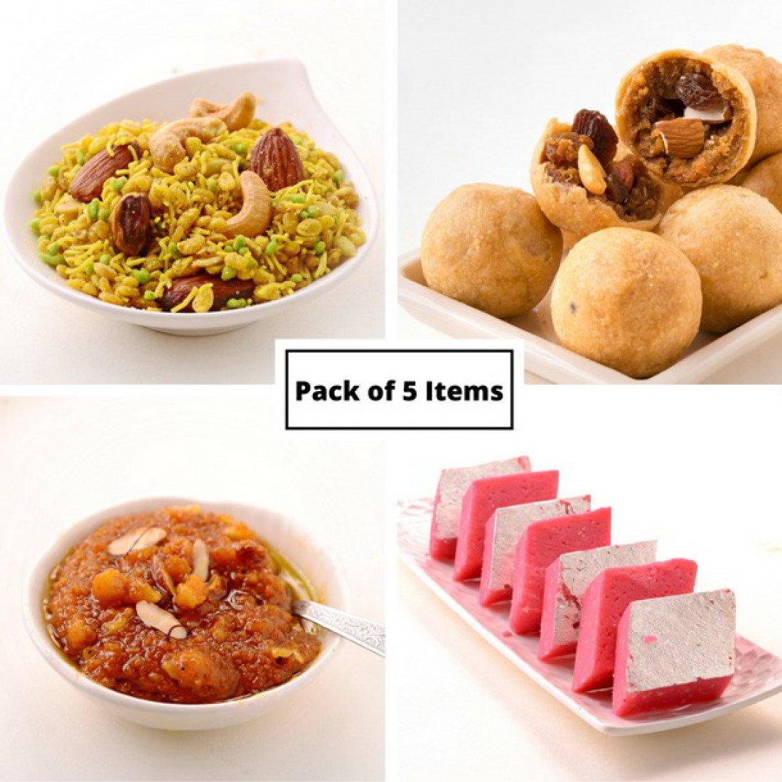 Kandoi Sweets (Ahmedabad) Gujarati Indian Food Sweets and Snack Gift Basket