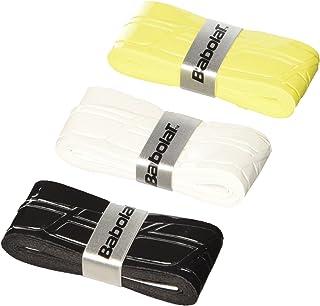 BABOLAT Over Grip Pro Tour Traction Mélange Lot de 3, Multicolore(Blanc / Noir / Jaune), Taille Unique, 653026–134