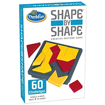 ThinkFun Shape by Shape Creative Pattern Logic Game For Age 8 to Adult - Learn Logical Reasoning Skills Through Fun Gameplay: Game: Toys & Games