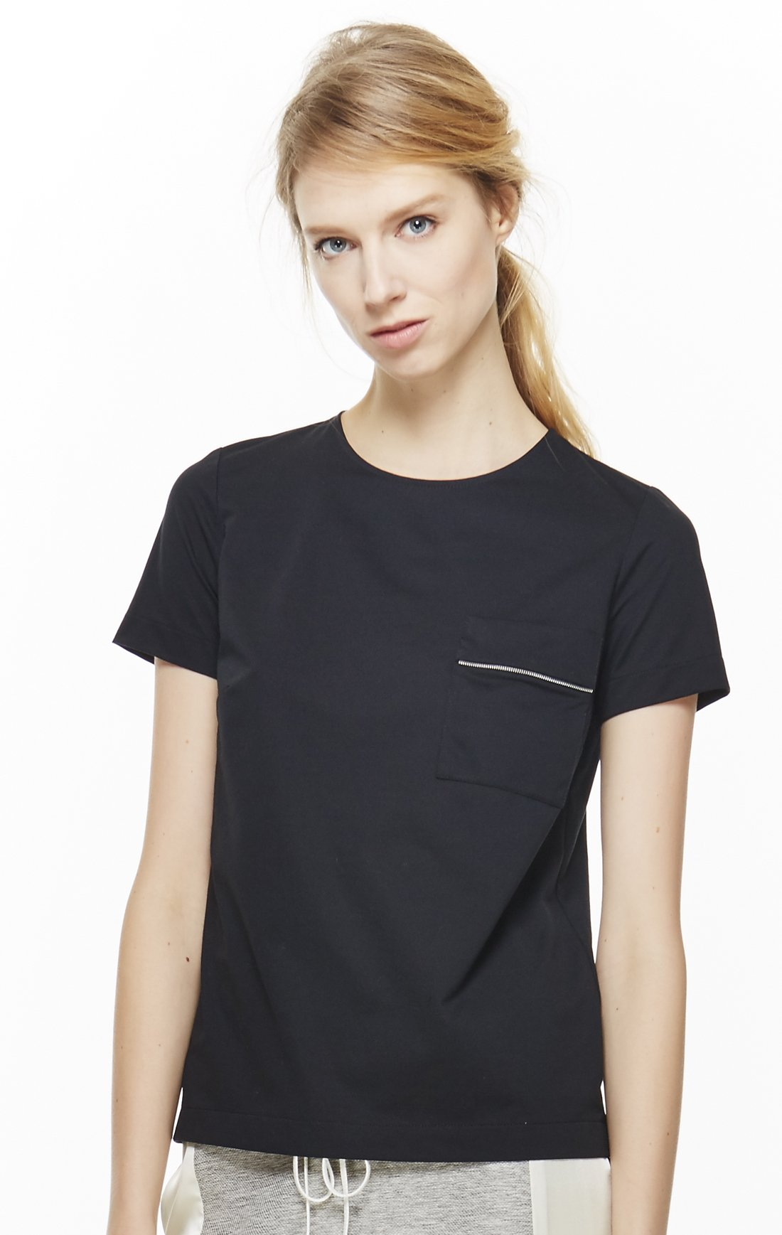 4 Corners of a Circle Women's Zipper Tee Large Black by 4 corners of a circle