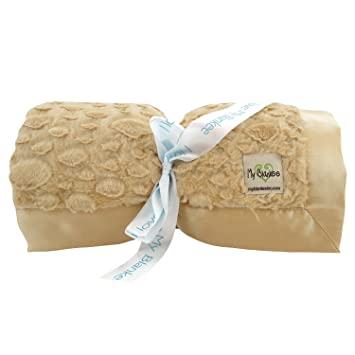 bd1716bc15 Amazon.com  My Blankee Luxe Stone Super Throw Blanket with Flat ...